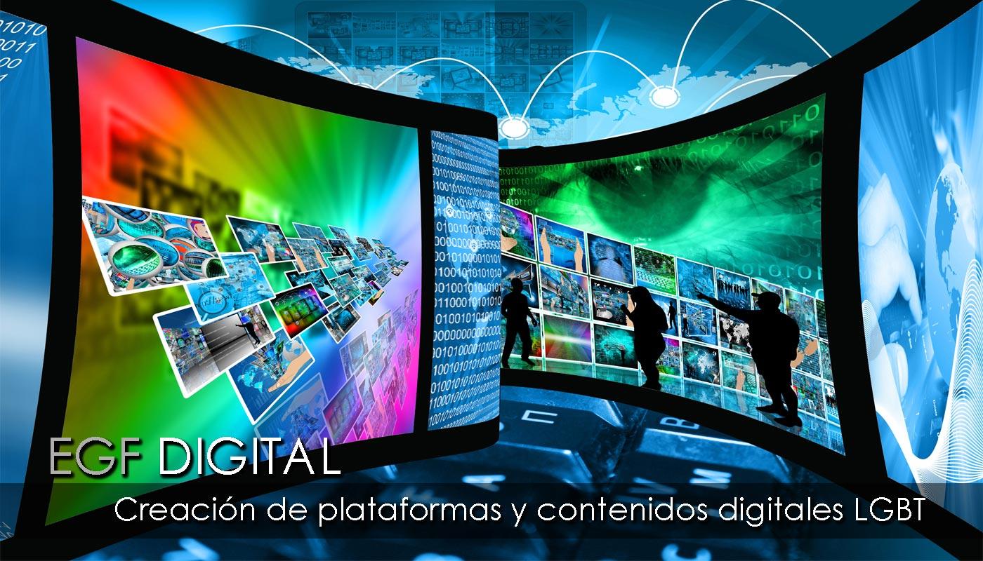 Servicio de creación de plataformas y contenidos digitales dirigidos al público gay, lésbico, bisexual y transexual
