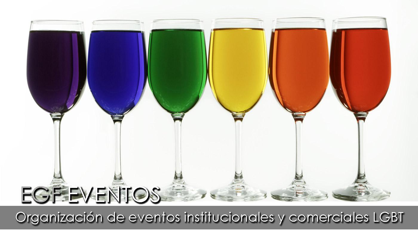 Eventos gay como servicio a empresas del Grupo EGF consistente en  organización de eventos gays, tanto institucionales como comerciales