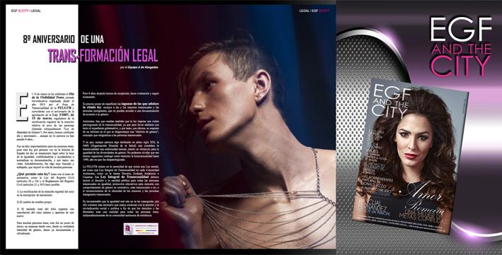 Arículo legal de la revista gay EGF and the City hablando sobre el diía de la visiibilidad trans