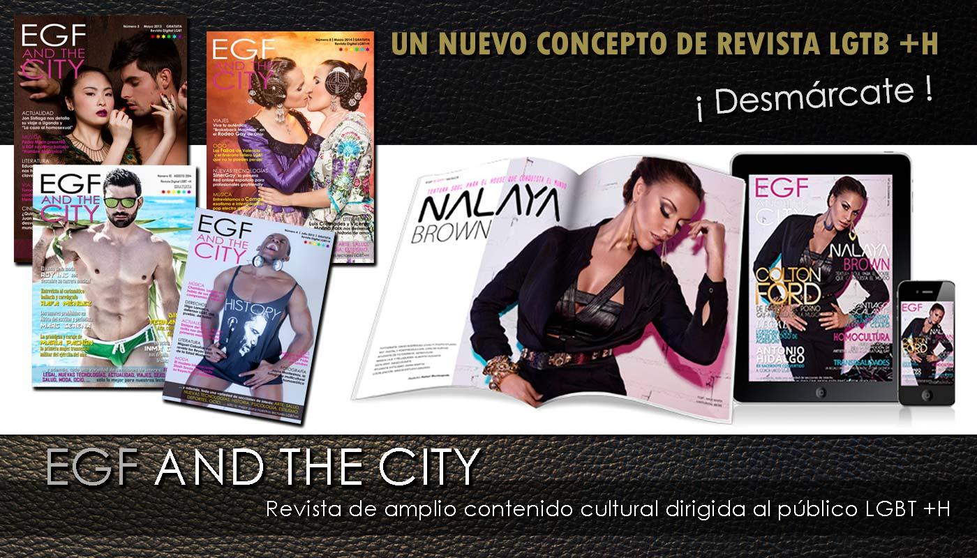 Revista gay EGF and the City, una revista gay de amplio contenido cultural