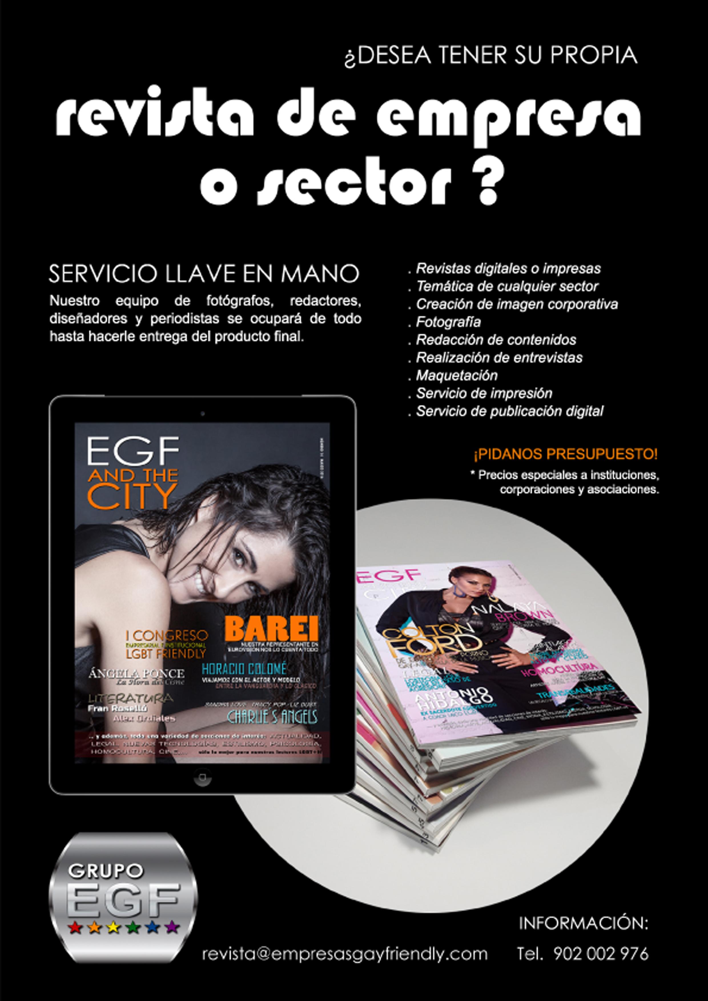 Revista de empresa ofrecida por Grupo EGF