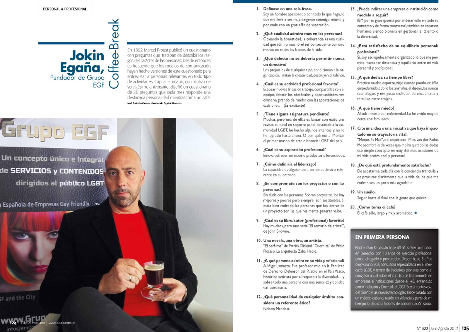 Jokin Egaña, director de Grupo EGF