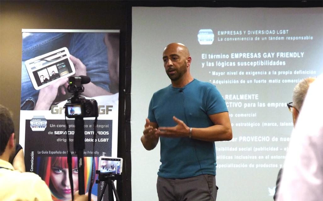 Jokin Egaña, director del Grupo EGF, consultora especializada en el mercado gay (LGBT)