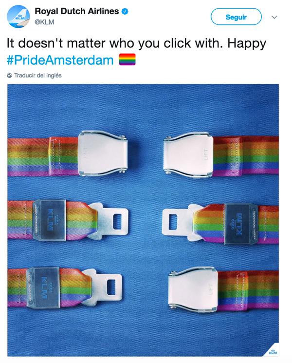 Confusa campaña gay friendly de la aerolínea KLM es utilizada por homófobos
