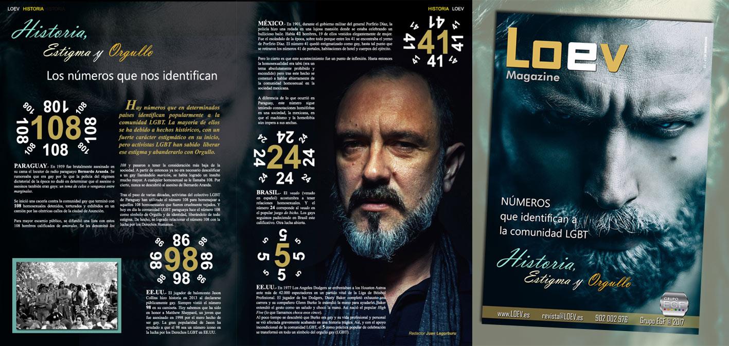 Revista LOEV dirigida al público gay (LGBT), perteneciente a la consultora gay Grupo EGF