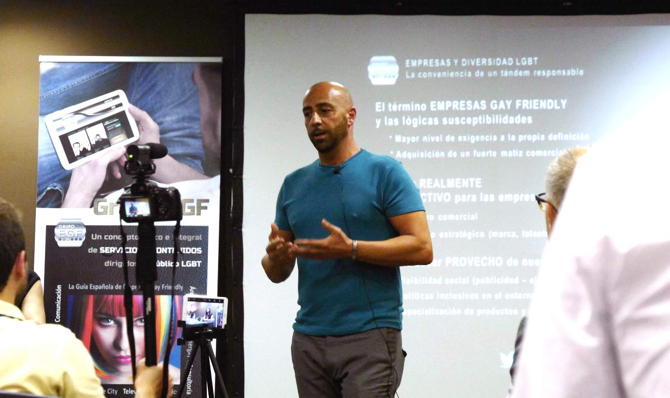 Jokin Egaña, director de Grupo EGF, consultora especializada en el Mercado Gay