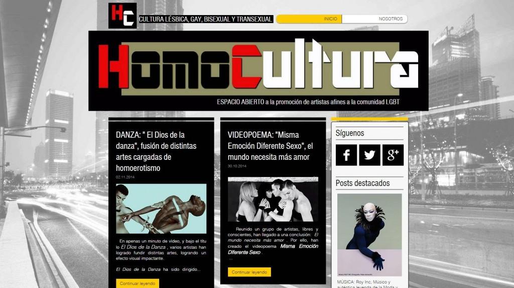 HOMOCULTURA, una plataforma para la promoción de artistas
