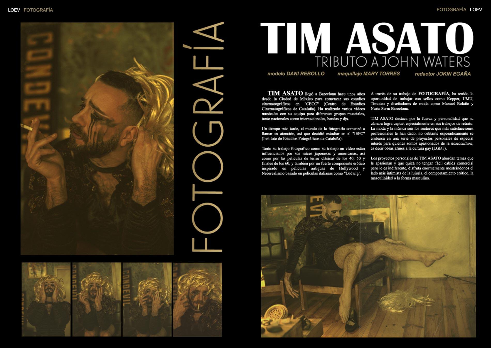 Tim Asato en la revista gay Loev Magazine