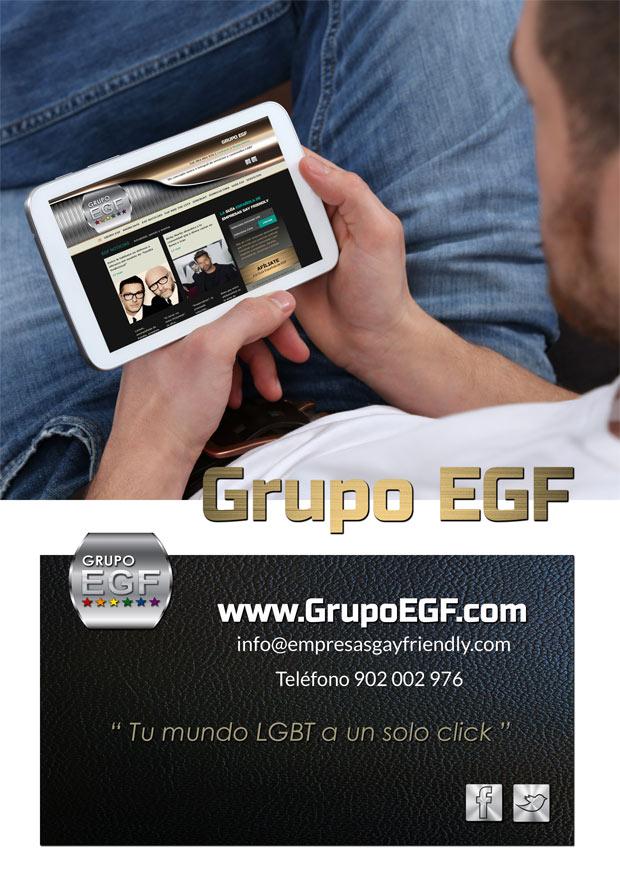 Amplio dossier del Grupo EGF donde describimos todos nuestros servicios y productos dirigidos a gays, lebianas, bisexuales y transexuales.
