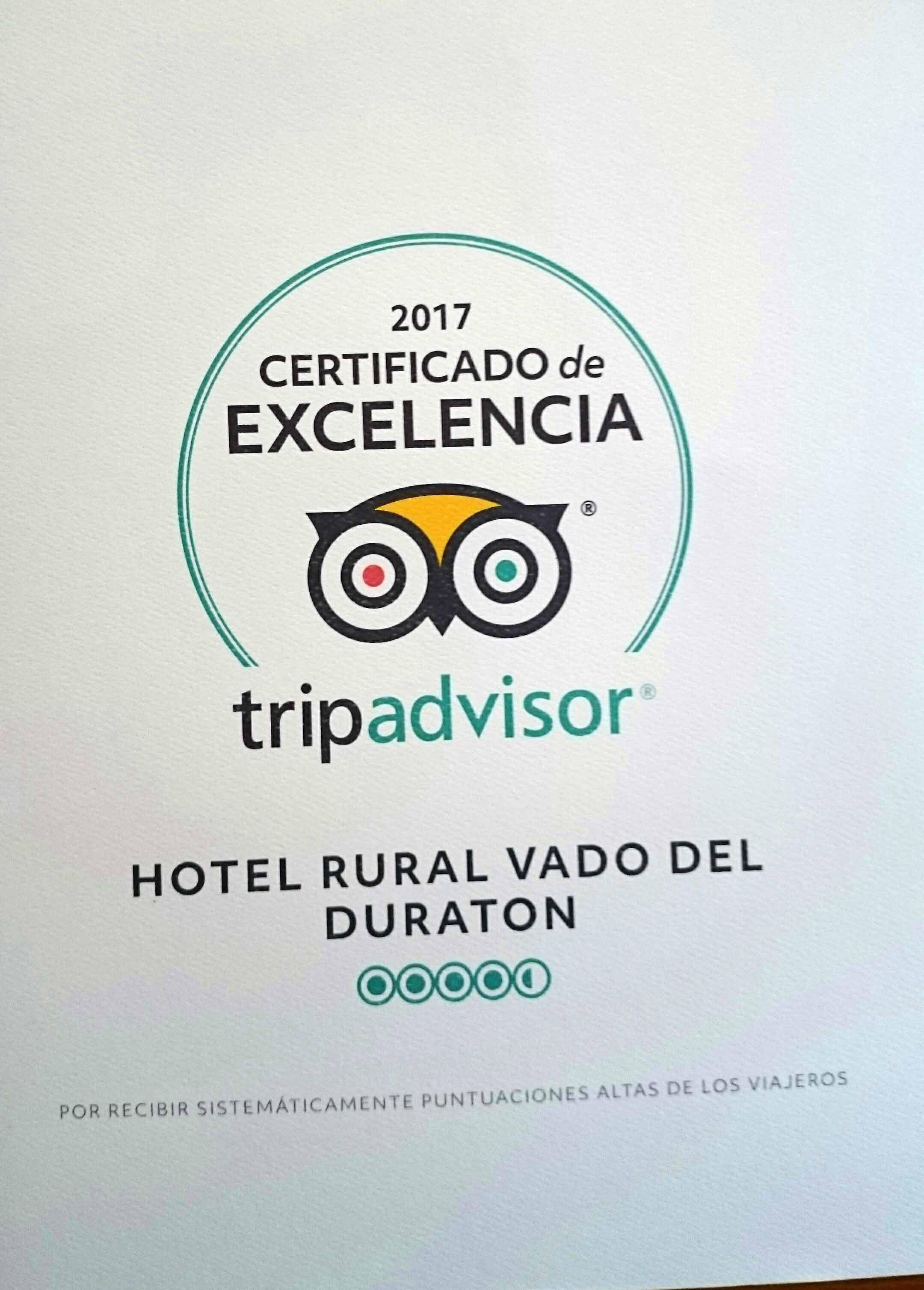 Nuestro Hotel Gay Friendly Vado del Duratón nuevamente premiado por su excelencia