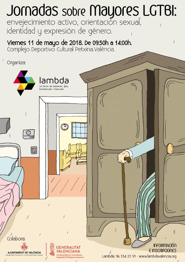 Expertos de ámbito nacional participan el 11 de mayo en las Jornadas sobre mayores LGTBI de Valencia