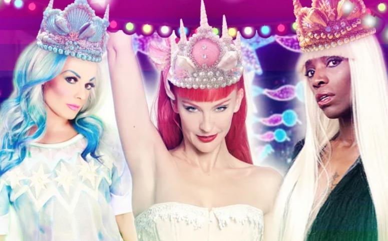 Reinas Magas por la diversidad LGBT en la Cabalgata de Vallecas