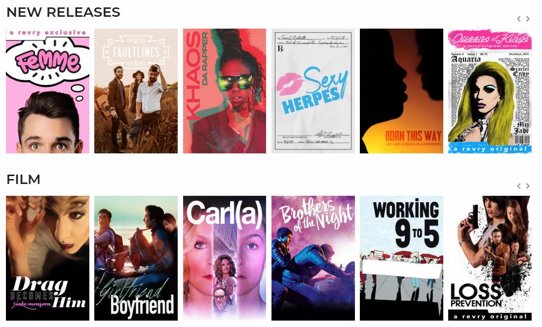 Revry, plataforma de televisión en streaming exclusivamente LGBT